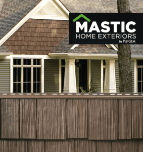 Mastic Cedar Shake siding is a low maintenance way to get the look of real cedar shake without having to seal and paint every year.